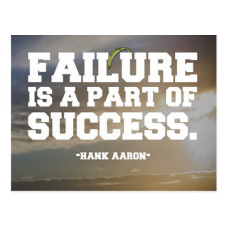 Succes & Failure Quote Postcard