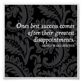 Success and Disappointment Quote Poster