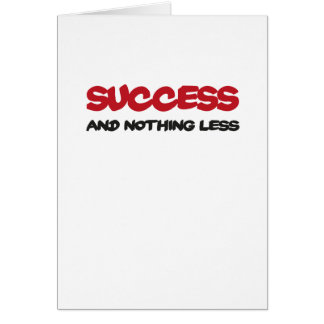 Success and emergency-hung less greeting card