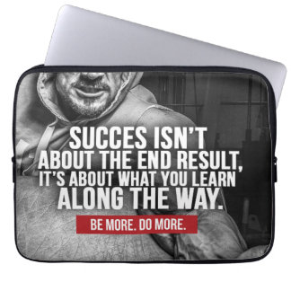 Success And Learning - Workout Inspiration Laptop Sleeve
