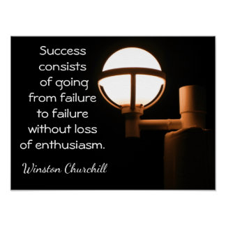 Success Art Print ~~ Winston Churchill quote