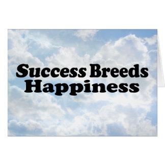 Success Breeds - Greeting Card
