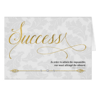 Success Business Expression in Gold and Silver Greeting Card