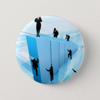Success Concept Business People Silhouettes 2 Inch Round Button