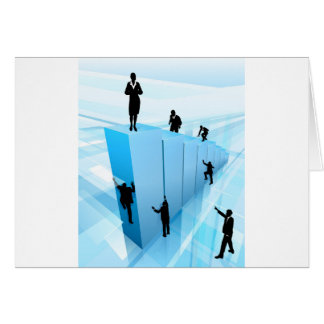 Success Concept Business People Silhouettes Card