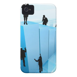 Success Concept Business People Silhouettes iPhone 4 Case