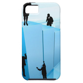 Success Concept Business People Silhouettes iPhone 5 Cover