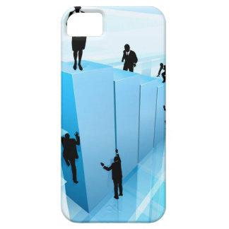 Success Concept Business People Silhouettes iPhone 5 Covers