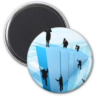 Success Concept Business People Silhouettes Magnet