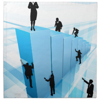Success Concept Business People Silhouettes Napkin