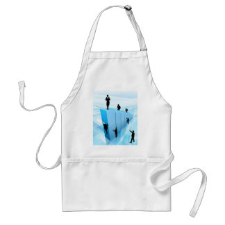 Success Concept Business People Silhouettes Standard Apron