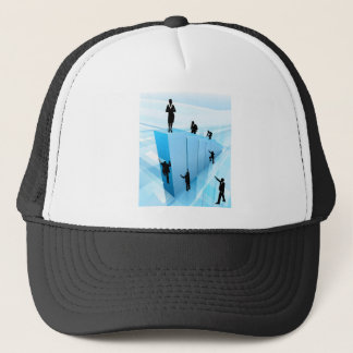 Success Concept Business People Silhouettes Trucker Hat