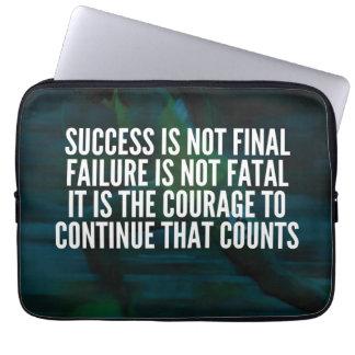 Success, Failure, Courage - Workout Motivational Laptop Sleeve