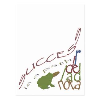 Success is a path postcard