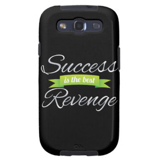 Success is the Best Revenge Green Samsung Galaxy S3 Covers
