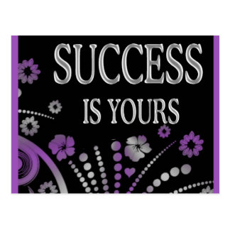 SUCCESS IS YOURS POSTCARD
