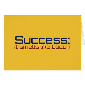 Success: It Smells Like Bacon Card