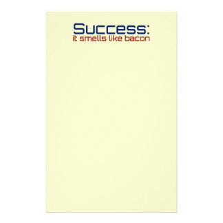 Success: It Smells Like Bacon Custom Stationery