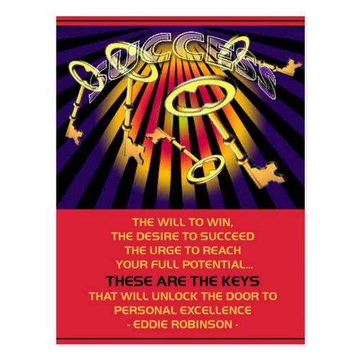 success keys postcard