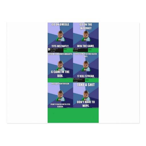 Success Kid Compilation Postcards