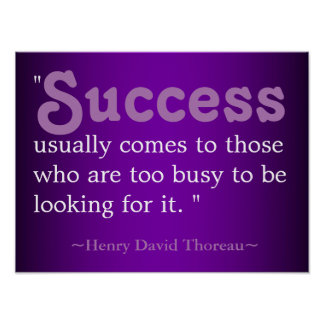 Success Life Quote | Thoreau Poster