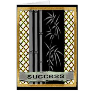 Success motivation greeting card