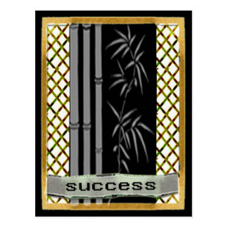 Success motivation postcard