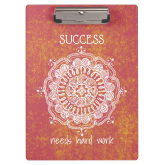 Success Needs Hard Work Clipboard