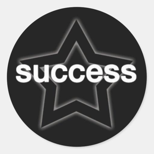 Success on a Star Background Sticker