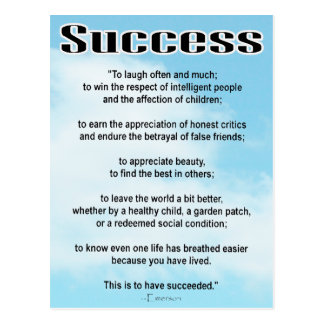 Success Postcard