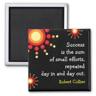 Success Quotation Motivational Black Magnet