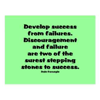 Success Quote Postcard