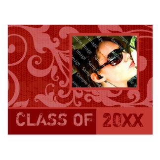 Success Red Graduation Invitation Postcard