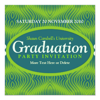 Success Vibration Graduation Invitation
