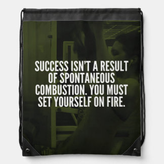Success - Workout Inspirational Drawstring Bag