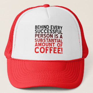 Successful Coffee Person Funny Ball Cap Hat