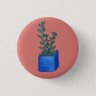 Succulent 1 Inch Round Button
