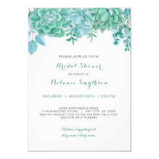 Succulent and eucalyptus bridal shower invite 3961