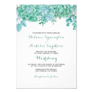 Succulent and eucalyptus wedding invite 3961