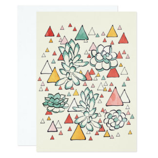 Succulent and triangles card