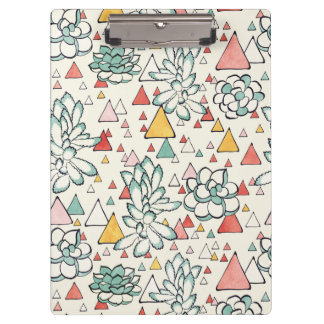 Succulent and triangles Clipboard