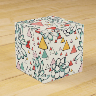 Succulent and triangles Gable Favor Box