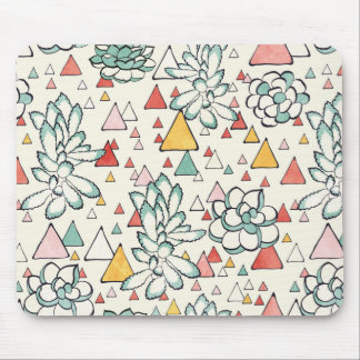 Succulent and triangles Mousepad