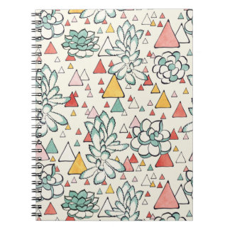Succulent and triangles Notebook