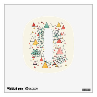 Succulent and triangles Wall Decals