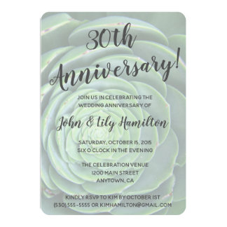 Succulent Anniversary Party Invitation
