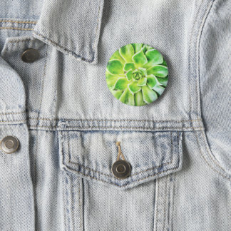 Succulent Badge 2 Inch Round Button