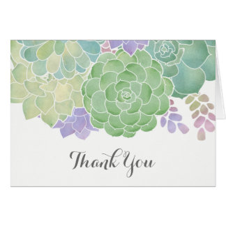 Succulent Bouquet Elegant Thank You Card