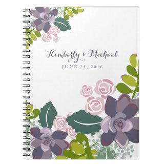 Succulent Bouquet II Floral Wedding Guest Book