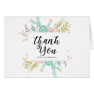 Succulent Bouquet | Thank You Card